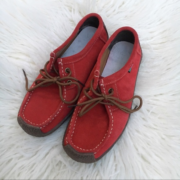 Sanearda Red Suede Rubber Sole Booties